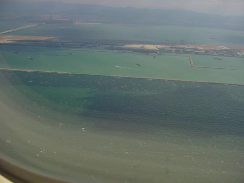 工事中の関西空港第二滑走路