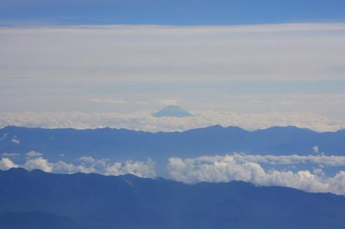 南北アルプスと富士山